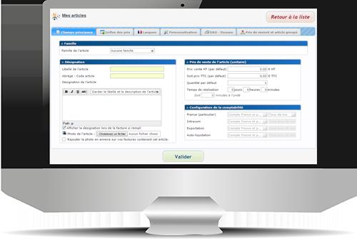 Facturation et caisse enregistreuse en ligne : la gestion des articles